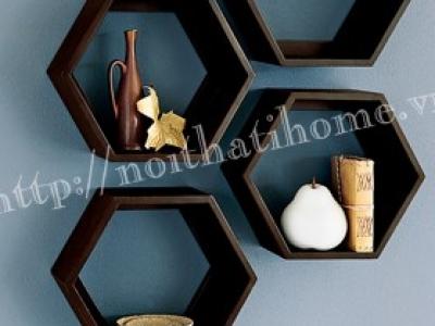 Hình ảnh Giá treo tường đẹp hình lục giác