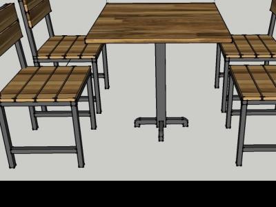 Hình ảnh Bàn ghế cafe bộ 1 bàn 4 ghế