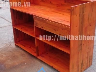 Hình ảnh Quầy bar gỗ thông đẹp 001