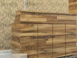Quầy bar gỗ thông đẹp, phong cách 002