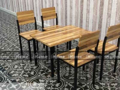 Hình ảnh Bàn ghế cafe gỗ thông đẹp 016
