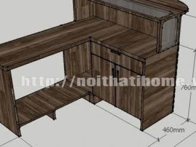 Hình ảnh Quầy bar cafe gỗ thông đẹp 003