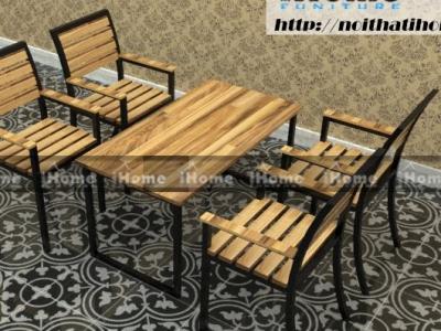 Hình ảnh Bàn ghế cafe có tay tựa, lưng tựa