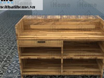Hình ảnh Bàn quầy gỗ thông bán hàng đẹp