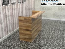 Bàn quầy gỗ thông bán hàng đẹp