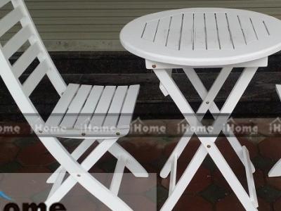 Hình ảnh Bàn ghế gỗ cafe chân gấp đẹp 026