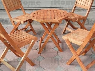 Hình ảnh Bàn ghế cafe gỗ mini