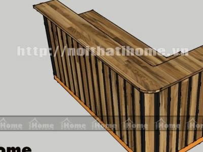 Hình ảnh Quầy bar gỗ thông đẹp 010