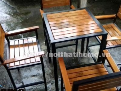 Hình ảnh Bàn ghế cafe tay vịn đẹp 029