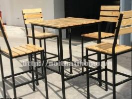 Bàn ghế nhà hàng, quán ăn đẹp BGA 013