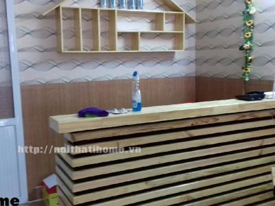 Hình ảnh Quầy bar gỗ thông nhà hàng đẹp