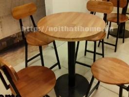 Bàn ghế cà phê phong cách bar