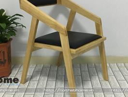Ghế gỗ cà phê phong cách Vintage