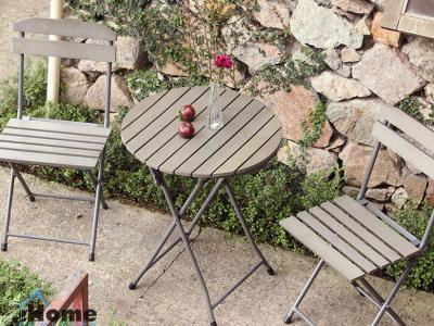 Hình ảnh Bộ bàn ghế gập cho quán cafe nhà vườn đẹp tại Hải Phòng