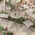 Bộ bàn ghế gập cho quán cafe nhà vườn đẹp tại Hải Phòng