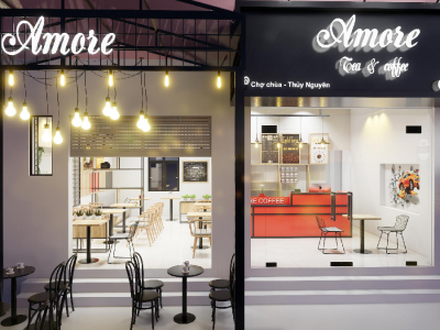 Hình ảnh Thiết kế, thi công quán cafe nhỏ đẹp giá rẻ tại Hải Phòng