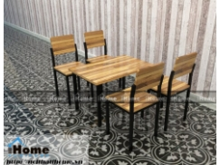 Bàn ghế cafe gỗ thông đẹp 016