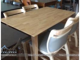 Bộ bàn ghế ăn cho nhà hàng đẹp, chất liệu bền