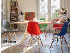 Ghế eames | Ghế nhựa chân gỗ