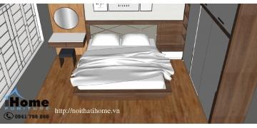 Thiết kế nội thất phòng ngủ Anh Tiến Văn Cao Hải Phòng