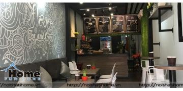 Thiết kế nội thất quán cafe nhỏ mặt phố