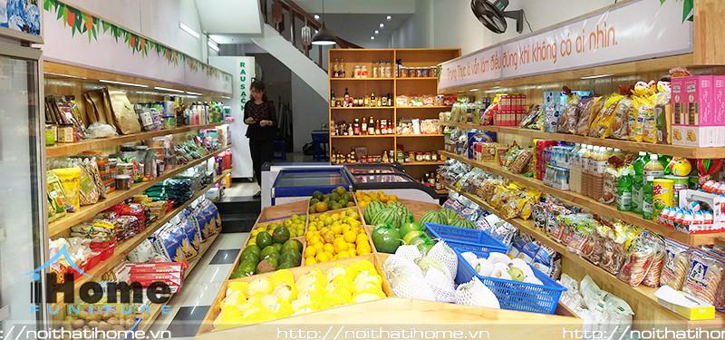hình ảnh Mẫu thiết kế nội thất shop thực phẩm sạch Sâu Xanh, 18 Tô Hiệu, Hải Phòng