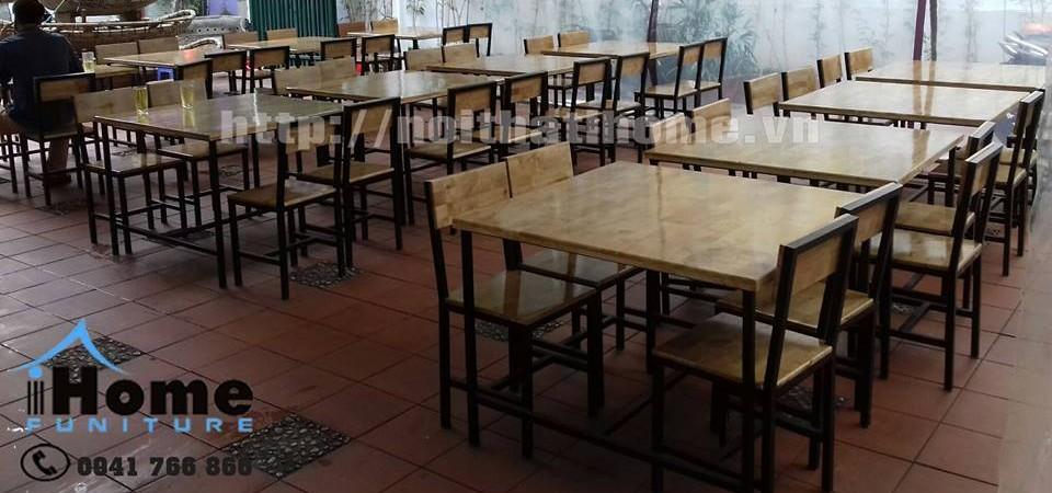 hình ảnh Những mẫu thiết kế bàn ghế cafe, nhà hàng gỗ thông tại Hải Phòng