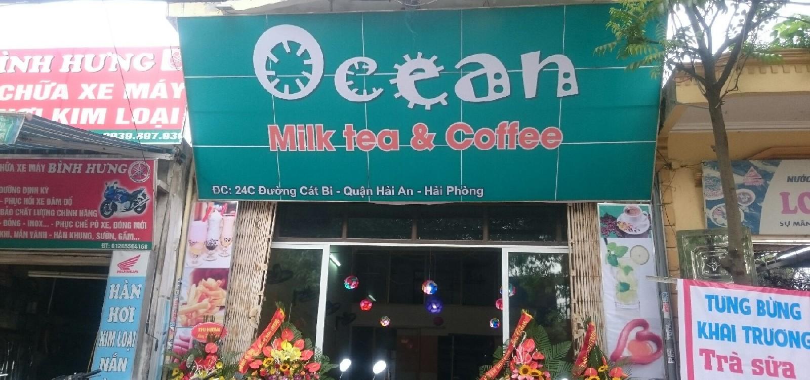 hình ảnh Nội thất quán trà sữa, cafe Ocean 24C Cát Bi, Hải Phòng