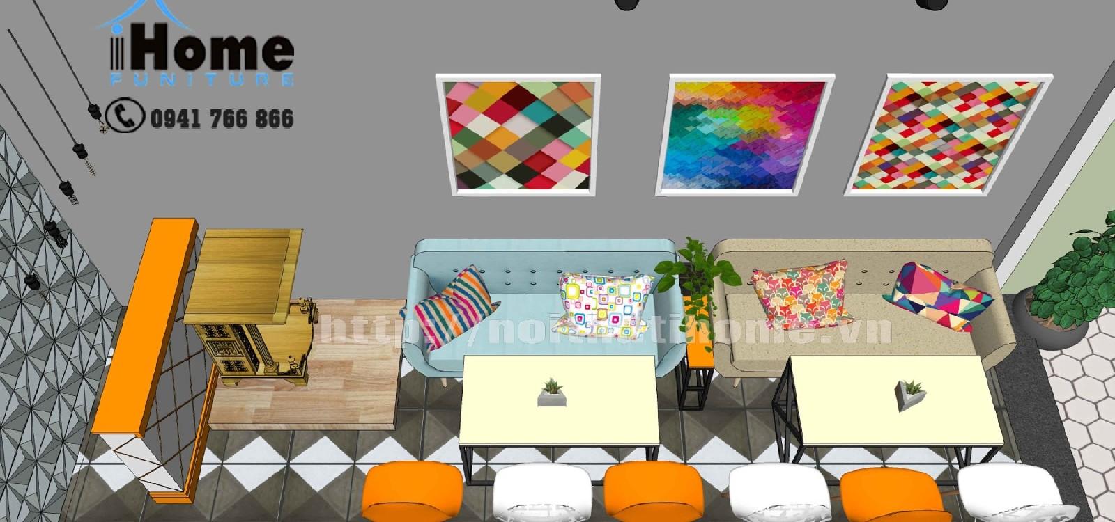 hình ảnh Quy trình thiết kế thi công nội thất quán cà phê Hải Phòng