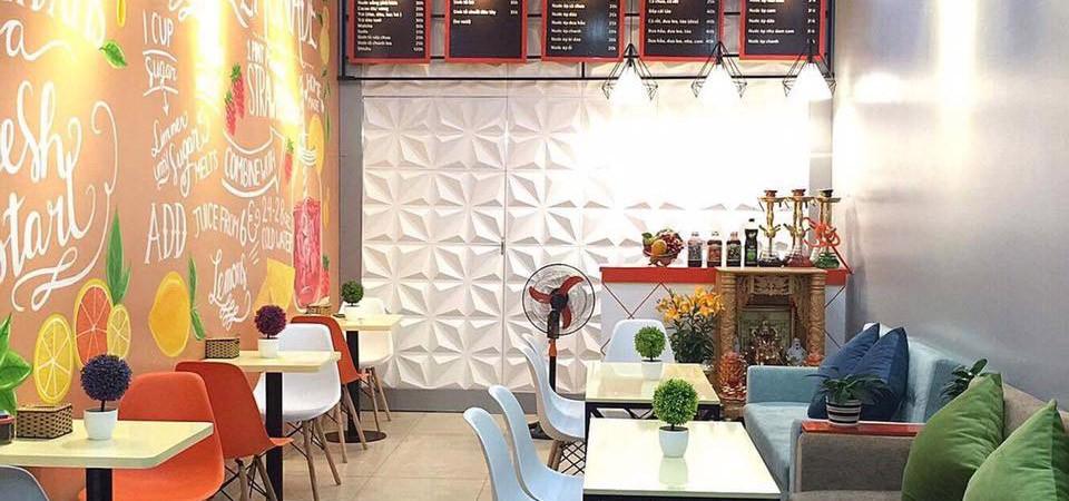 hình ảnh Thiết kế quán cà phê Méli Juce - 295 Nguyễn Công Hòa