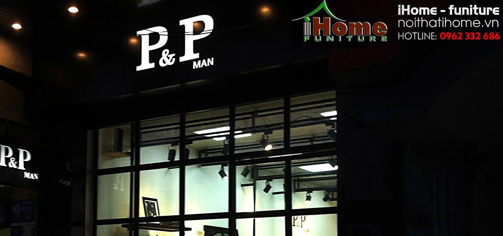 hình ảnh Thi công nội thất showroom thời trang P&P Man Hải Phòng