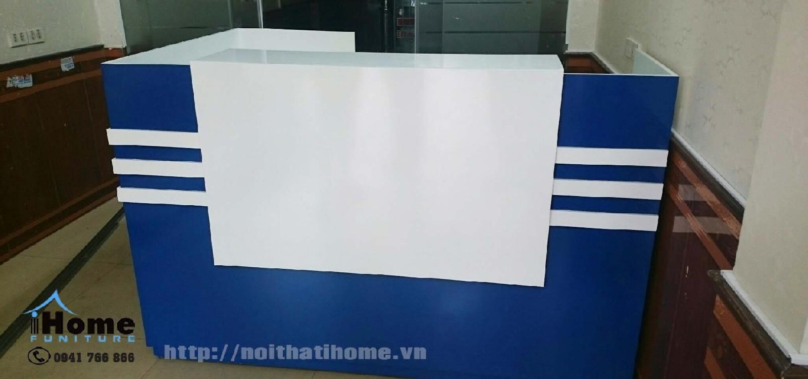 hình ảnh Thiết kế bàn quầy lễ tân đẹp 422 lạch tray Hải Phòng