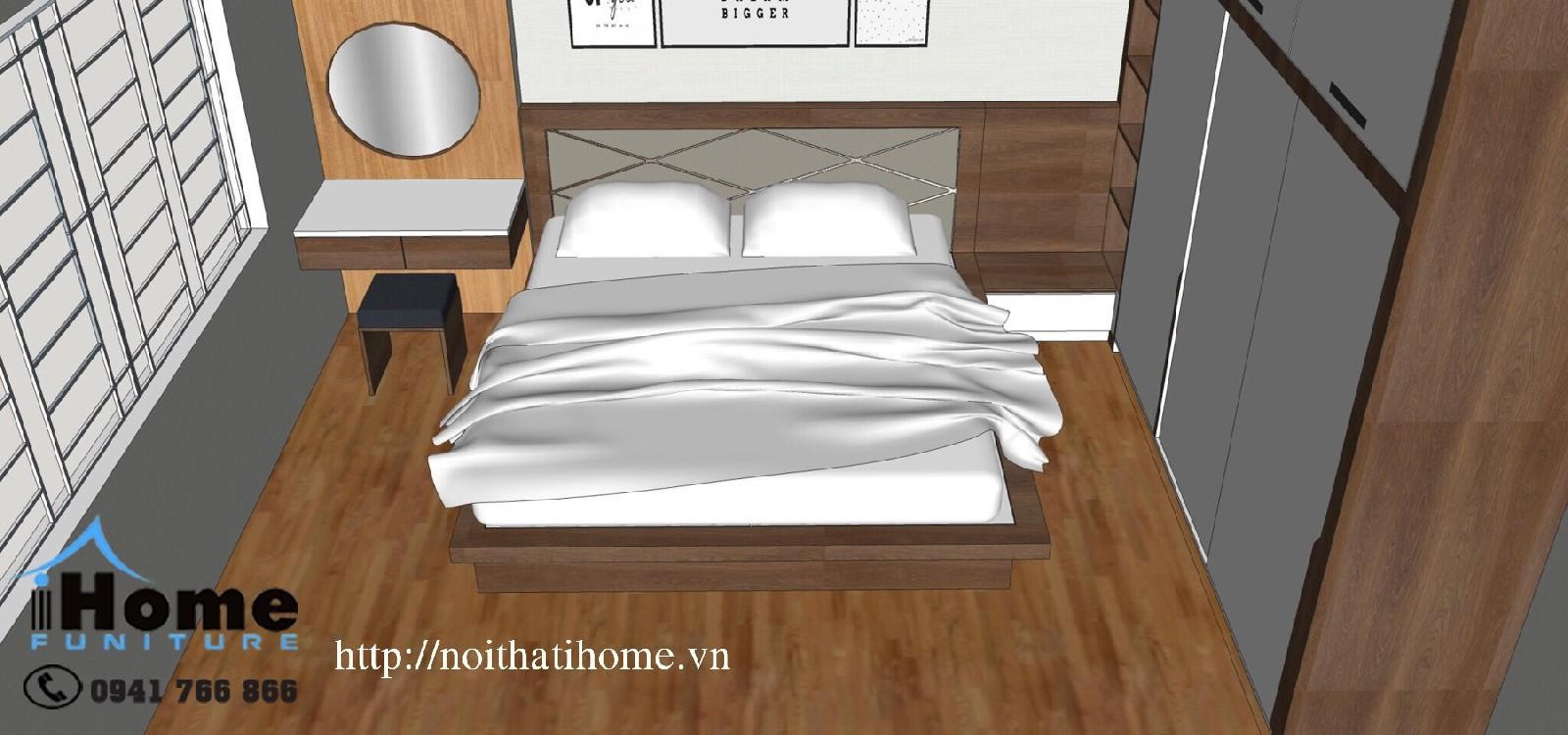 hình ảnh Thiết kế nội thất phòng ngủ Anh Tiến Văn Cao Hải Phòng