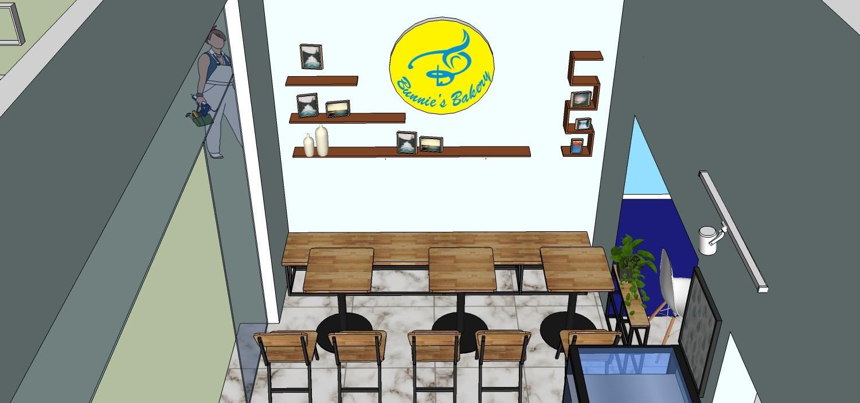 hình ảnh Thiết kế quán cà phê COFFEE DESSERTS PASTRIES 180 Lý Thánh Tông Đồ Sơn.
