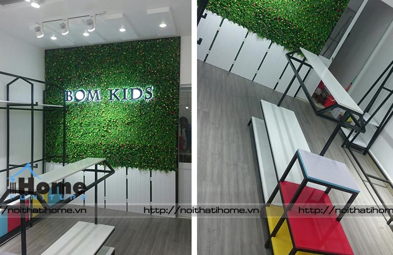 hình ảnh Thiết kế và thi công shop quần áo trẻ em Bom Kids tại Hải Phòng