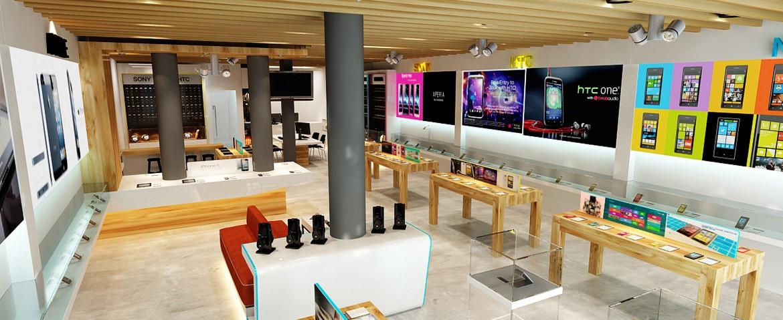 Thiết kế shop - cửa hàng điện thoại