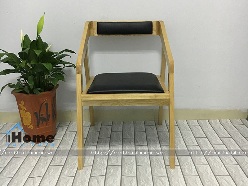 mặt trước ghế gỗ cafe phong cách